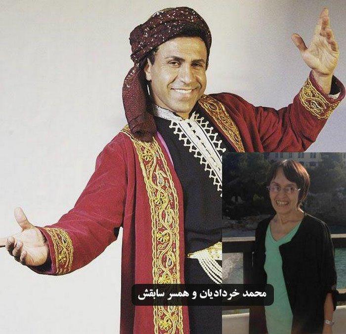 محمد خردادیان و همسرش